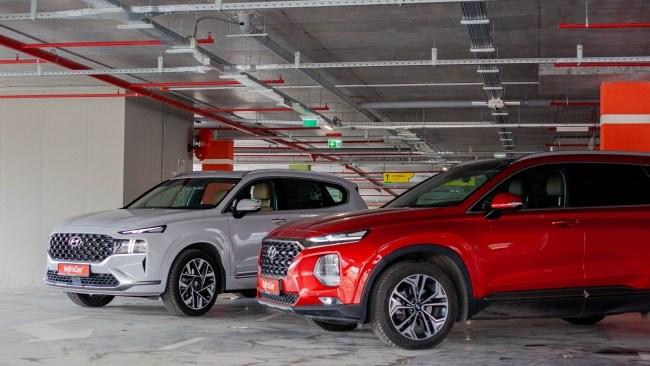 Hyundai Santa Fe фары и бампера