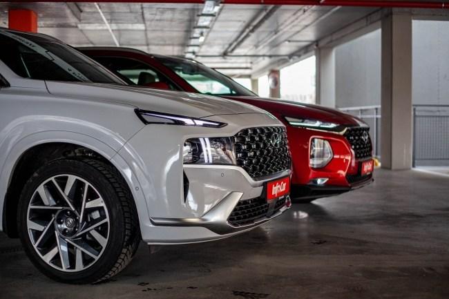 Hyundai Santa Fe передний свес