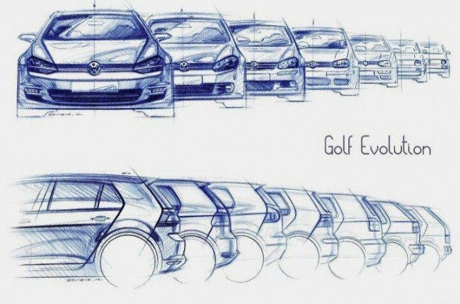 Вальтер де Сильва. Эволюция Volkswagen Golf