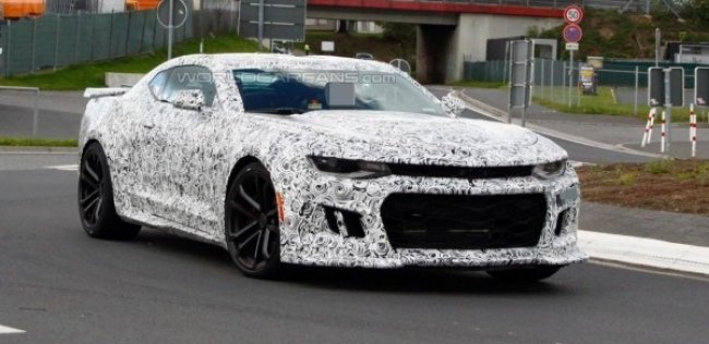 Chevrolet Camaro ZL1 впервые замечен на тестах
