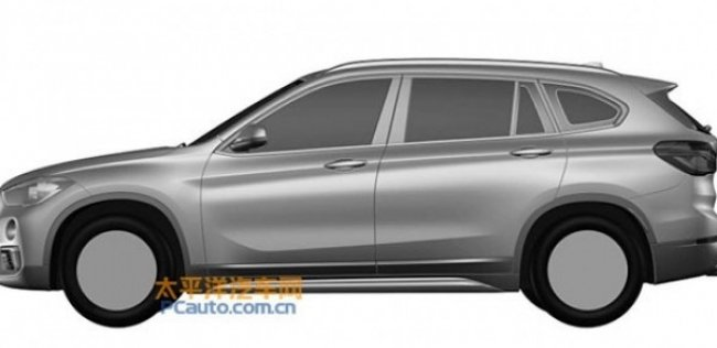 Дизайн удлиненной версии нового BMW X1 рассекречен на патентных изображениях