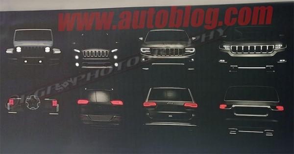 Появилось первое изображение нового внедорожника Jeep