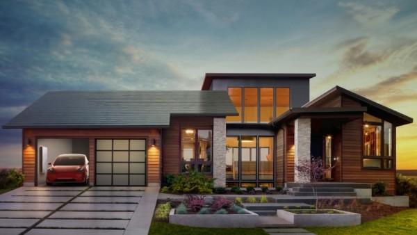 Tesla создала «солнечную крышу» для подзарядки электрокаров