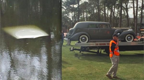 Раритетный Packard 1938 года в единственном экземпляре утопили в озере