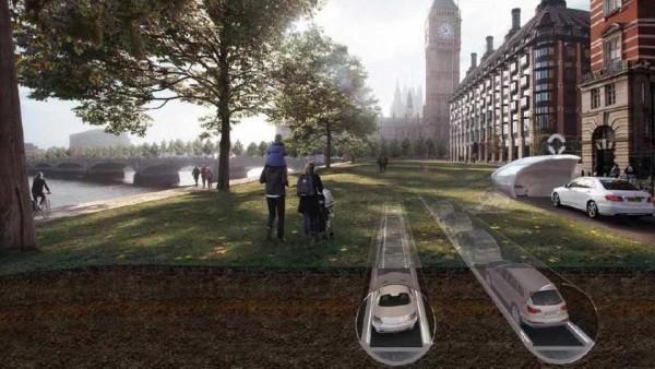 Автомобильное движение предложили перенести в подземные трубы