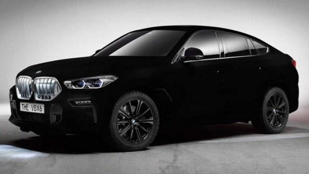 BMW показала X6 с абсолютно чёрным покрытием