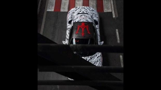 Новый суперкар Maserati с камуфляжем в честь Стирлинга Мосса