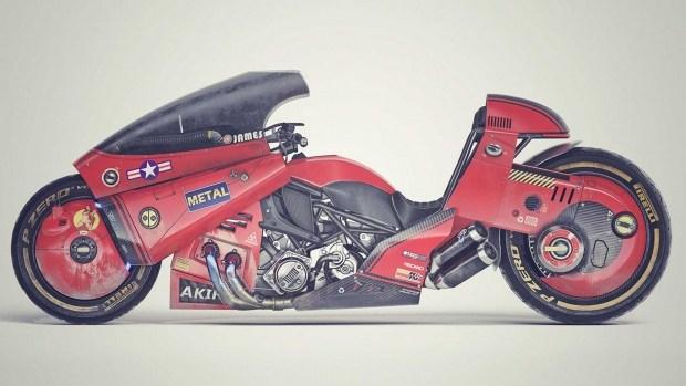 Мотоцикл для байкеров анимешников