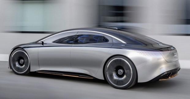 Mercedes впервые показали «живой» EQS