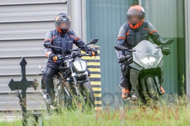 Новый спортбайк KTM RC 390 попался фотошпионам