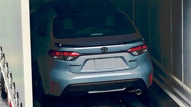 Corolla Apex попалась во время рекламных съемок