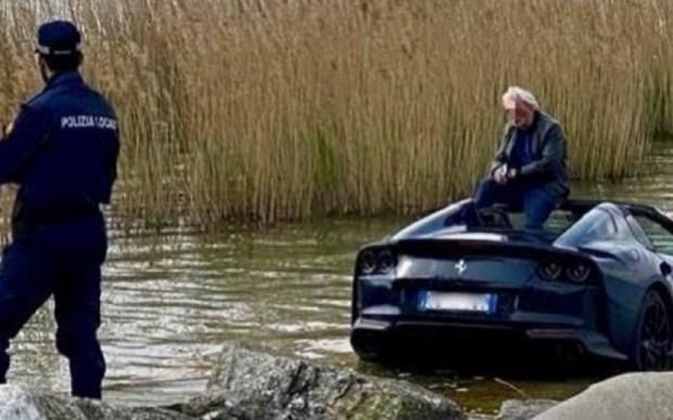 Владелец Ferrari случайно утопил свой суперкар