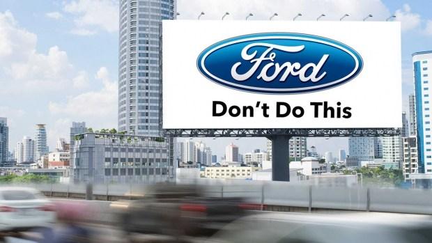Игнорируете придорожную рекламу? Ничего, Ford это исправит!