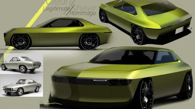 Эскиз электрической Nissan Silvia, выполненный Мэттью Уивером