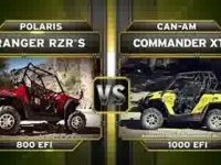 Сравнение Polaris RZR S 800 и Can-Am Commander XT 1000 EFI
